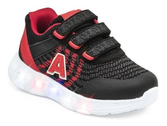 Addnice Zapatilla Running Niño Arrow Velcro Negro - Rojo