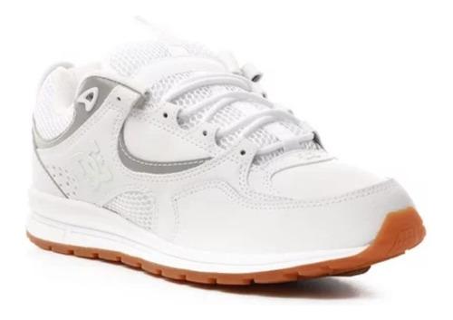 Tenis Skate Dc Shoes Kalis Lite Blanco Silver Talla 9.5 Usa