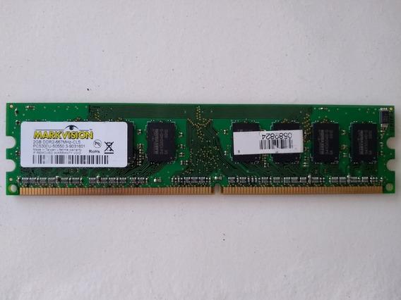 Memória Ram 2gb Markvision Ddr2-667mhz-cl5