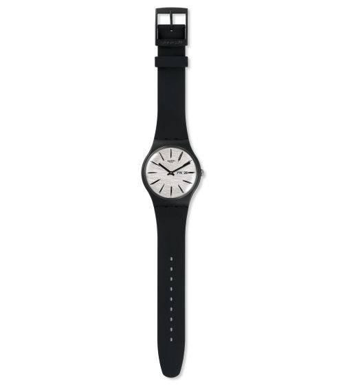 Relógio Swatch Matitasuob726 Silicone Preto Original