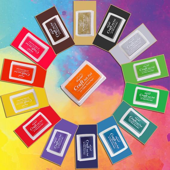 Colorido Almofada De Tinta De Borracha Artesanato Carimbo De