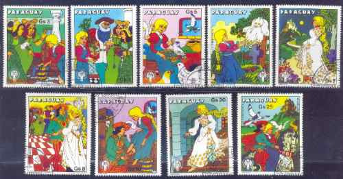 Paraguay 1979 Cuentos Infantiles Serie Completa Con Aereos
