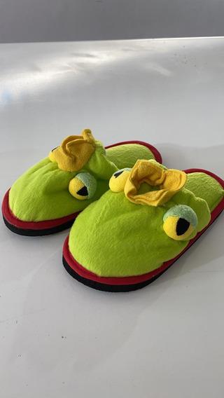 Pantuflas Rana Niños/niñas