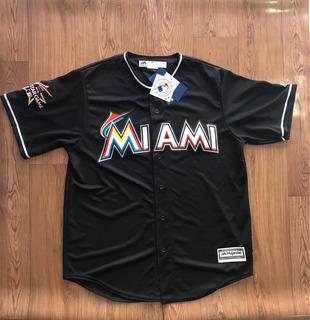 Camisa Baseball Masculino Marlins Miami Tamanho L/g