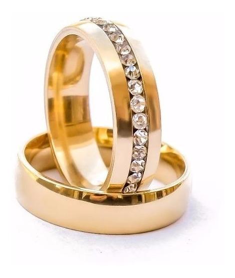 Aliança 6mm Banhado Ouro 18k Casamento Noivado Namoro Unidad