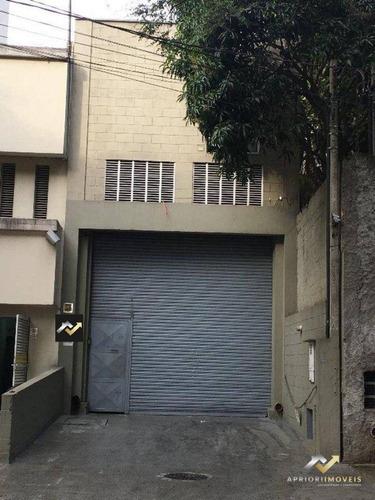 Galpão Para Alugar, 390 M² Por R$ 5.500/mês - Jardim Santa Francisca - Guarulhos/sp - Ga0100