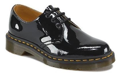Zapatos Dr Martens 1461 Piel Negra Charol Unisex Botas