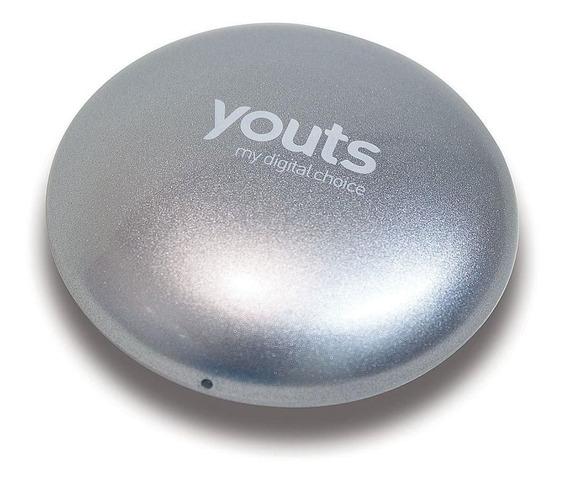 Caixa De Som Por Vibração Speaker Youts Pebble Prata