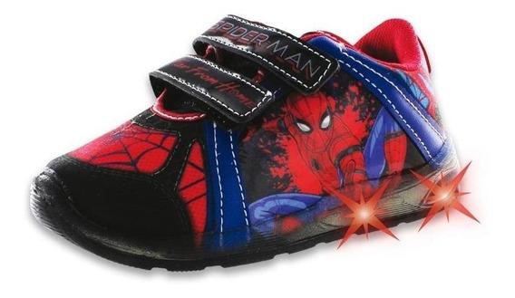 Tenis Para Niño Casuales Incognita Textil Negro Spider Man