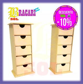 Cajonera Mini De Pie Con 5 Cajones Fibrofacil 26x9 Souvenir
