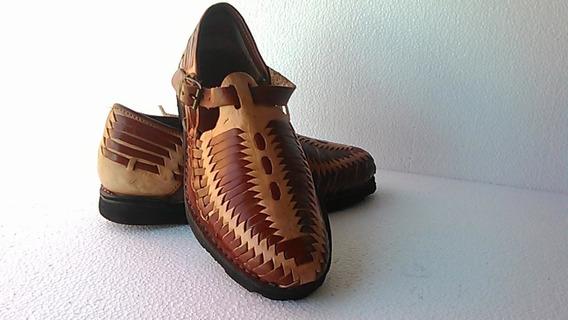 Huarache Artesanal Típico Méxicano Hombre Zapato 25,26,27