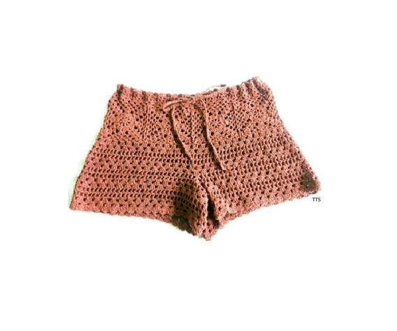 Short Tejido Crochet Casual O Playero