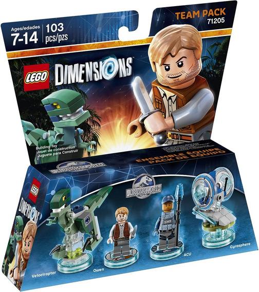 Lego Dimensions Jurassic World Team Pack 71205-original Novo