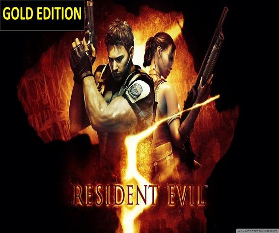 Resident Evil 5 Pc Key Original Steam Gold Edition Biohazard