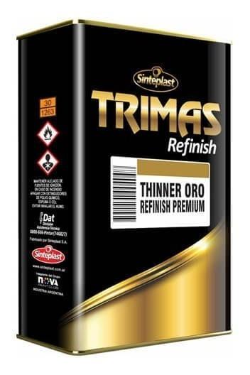 Trimas Thinner Oro - Refinish Premium - 4lts