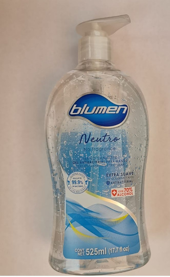 Gel Antibacterial Blumen 525ml 70% Alcohol Ultimas Piezas