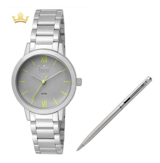 Relógio Dumont Feminino Du2035lui/3v + Brinde Caneta Crown