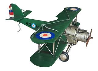 Avioneta En Miniatura Verde Coleccion