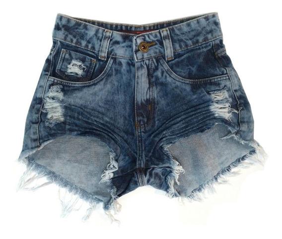 Kit 2 Shorts Jeans Feminino Destroyed Hot Pant Rasgado