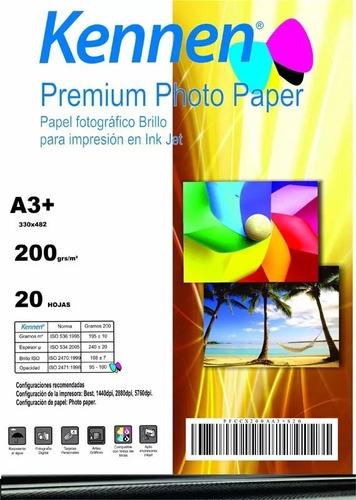 Papel Foto Glossy Especial Foto-libro Bifaz 220g. A3+ X20h.