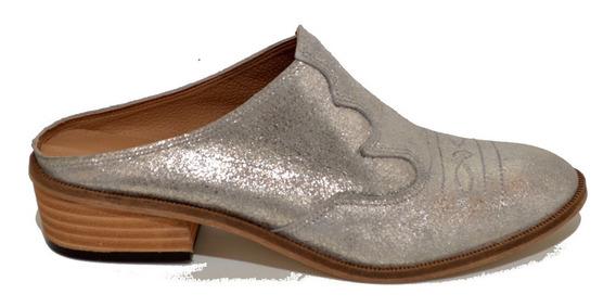 Suecos Mujer Texanos Charritos Zapatos Cuero Moda 1303gr