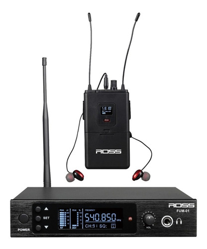 Sistema Monitoreo Intraural Ross Fum001 Uhf