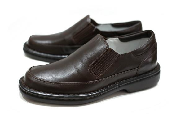 Sapato Couro Alcalay Relax Conforto Ortopedico Esporão 709