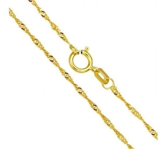 Corrente Colar Singapura 45cm Feminina Ouro 18k 750