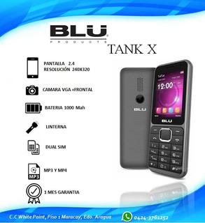 Telefono Blu Tank X Cam Selfie 1000 Mah 2.4 240x320