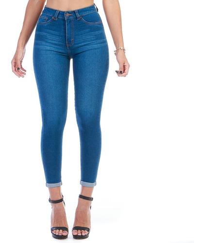 Imagen 1 de 6 de Pantalón Jeans Mezclilla Stretch Dama Dobladillo En Tobillos