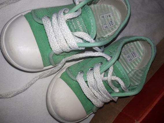 Zapatillas Mimo Lona Verde Claro