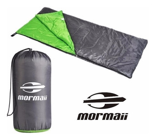 Saco Dormir Mormaii Fun 5°c A 13°c Camping Pesca Verde Cinza