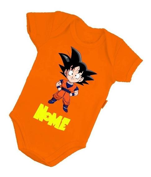 Body Bebê Infantil Dragon Ball Personagens Anime Mangá Baby