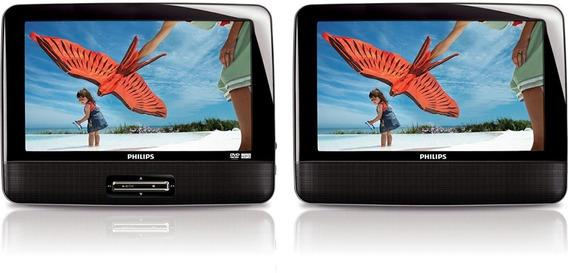 Dvd Portatil Automotivo Philips Mod Pd9012/17 - 2 Telas