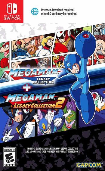 Mega Man Legacy Collection 1 E 2 Switch Midia Fisica