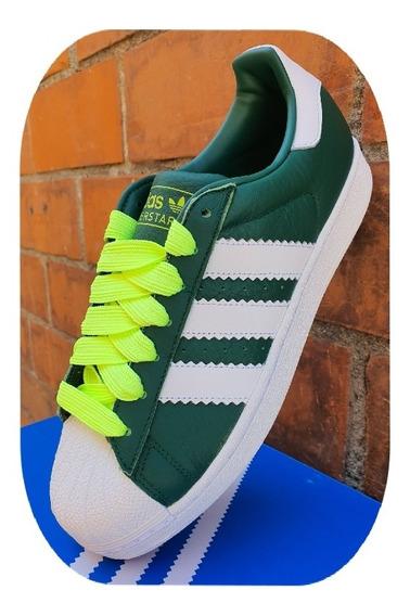 Tenis adidas Concha Superstar Piel Verde Bd7419 Oferta