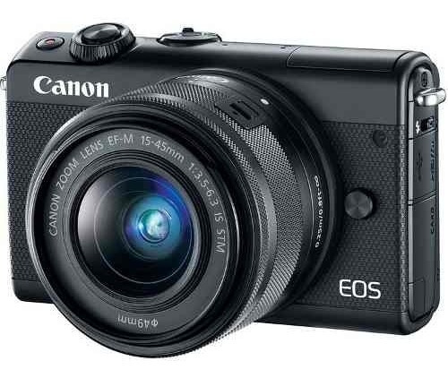 Câmera Digital Canon Eos M100 Mirrorless Com Lente 15-45mm