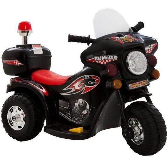Mini Moto Polícia Elétrica Infantil Bateria 6v Bw002-p