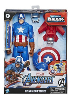 Figura Marvel Avengers Capitan América Hasbro E7374 30 Cm