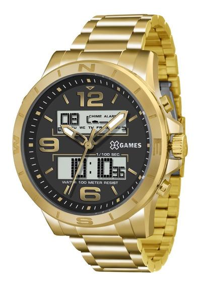 Relógio X-games Masculino Xmgsa003 P2kx Dourado Anadigi