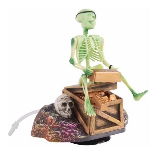 Imagen 1 de 5 de Decoración Esqueleto Pirata Para Peceras Y A