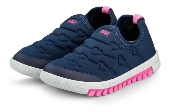 Tênis Menina Infantil Bibi Roller Azul E Pink Frete Grátis