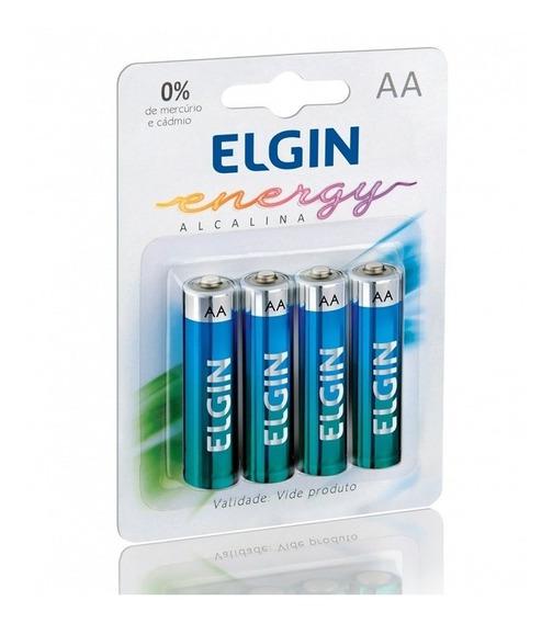 Pilha Alcalina Pequena Aa Com 4 Unidades Lr6 - 1,5v Elgin