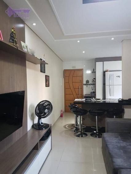 Cobertura Com 2 Dormitórios À Venda, 124 M² Por R$ 383.000 - Vila Curuçá - Santo André/sp - Co0437