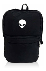 Mochila Alien Black White Com Suporte Para Notebook