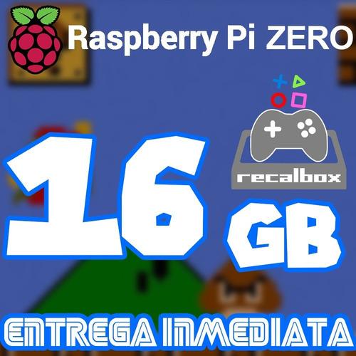 Archivo Imagen Recalbox 16g P/ Raspberry Pi Zero /w 10miljue