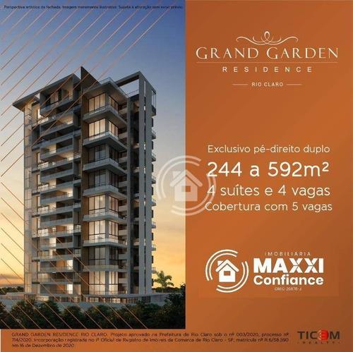 Apartamento Com 4 Dormitórios À Venda, 244 M² Por R$ 1.798.600,00 - Cidade Jardim - Rio Claro/sp - Ap0809