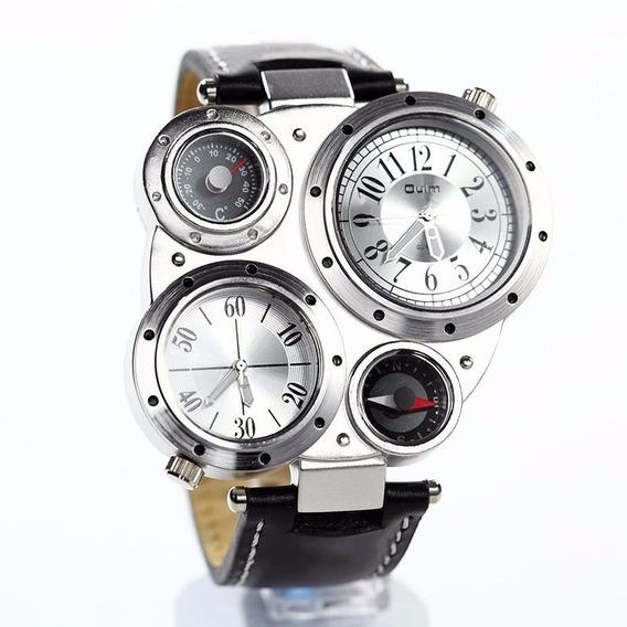 Reloj Luxury Militar Con Termometro Y Brujula