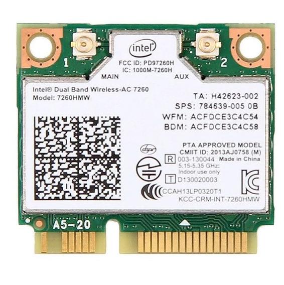 Tarjeta Intel Wirelessn 7260 7260hmw Bt 4.0 802.11b/g/n 300m
