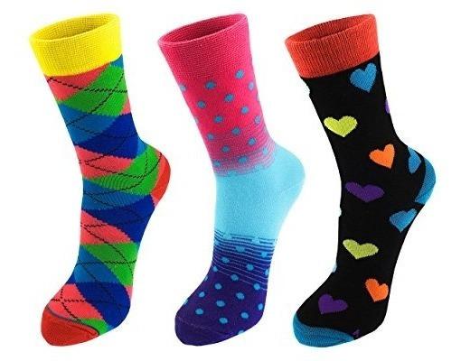 Calcetines Graciosos Coloridos Estampados Para Mujeres Y Hom